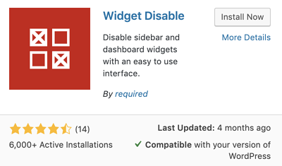 widget disable plugin for how to remove sidebar in WordPress