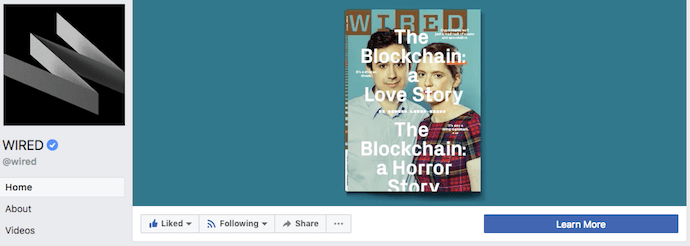 WIRED Magazine's Facebook Business Page