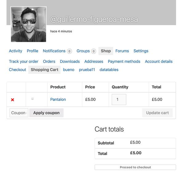example of a member profile page made with woobuddy wordpress plugin