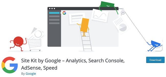 product page for the wordpress analytics plugin google site kit
