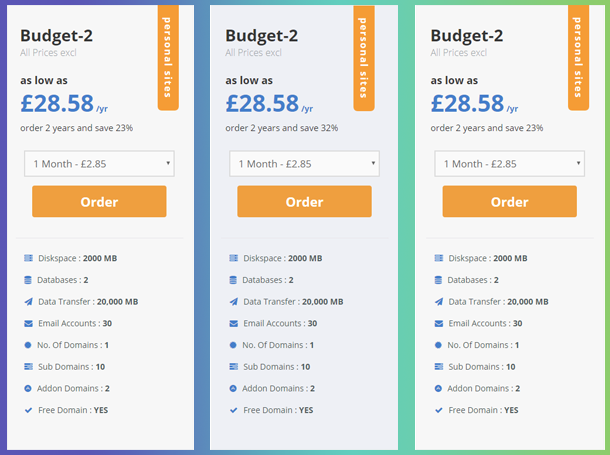 WordPress Pricing Tables, Sliders & Comparison Tables example table