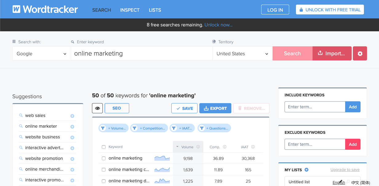 Wordtracker can help find long tail keywords.