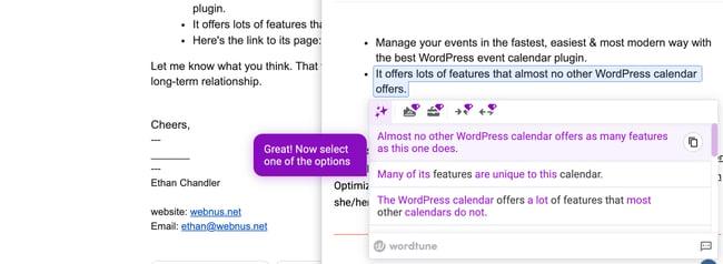افزونه WordTune Chrome