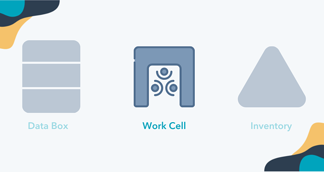 Work cell value stream map icon