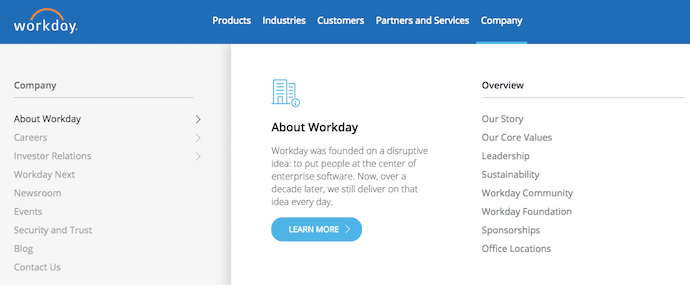 Workday vision and mission statement