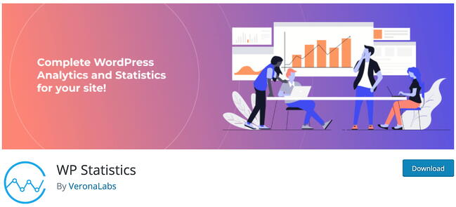 product page for the wordpress analytics plugin wp statistics