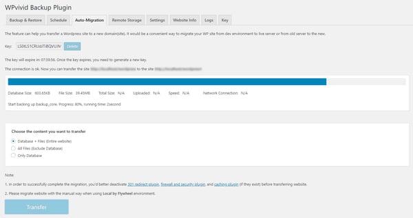 auto-migration file backup destination demo page
