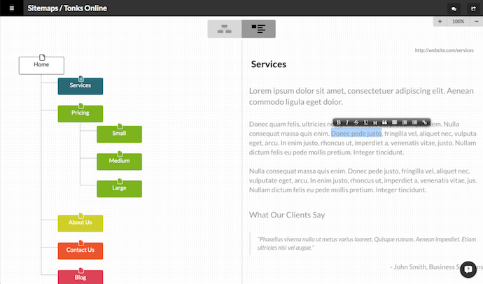 WriteMaps sitemap generator
