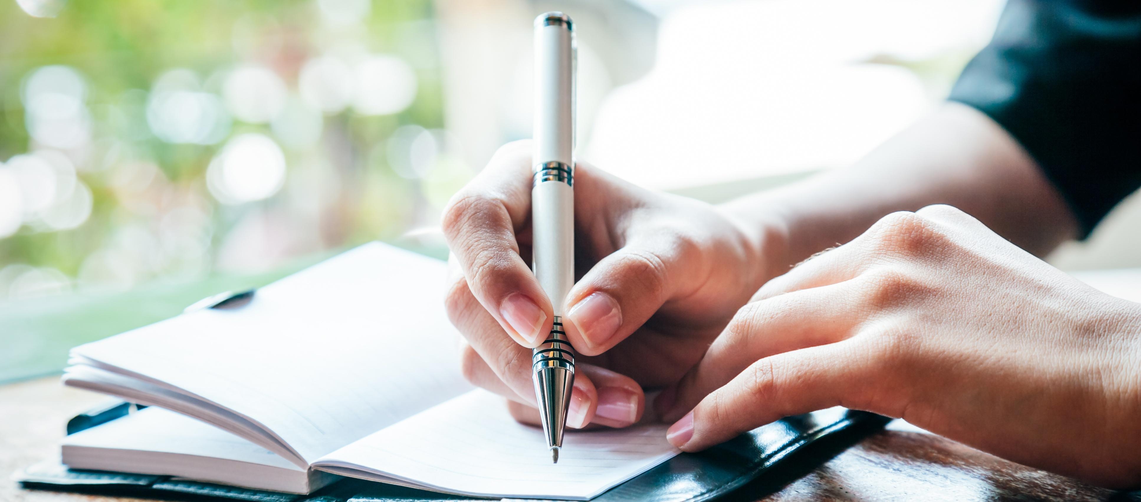 writing down goals