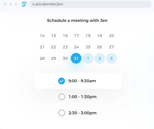 Group scheduling tool by X.ai