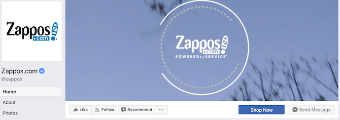 Zappos Facebook Business Page