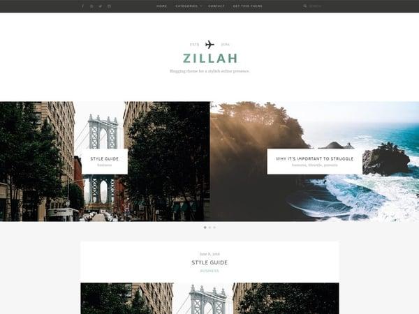 zillah blogging themeise wordpress theme