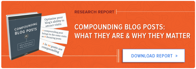 free HubSpot research report: compounding blog posts