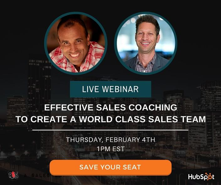 Register for the Sales Coaching Webinar