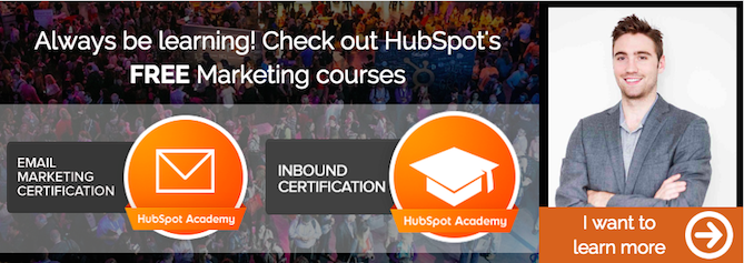 Check out HubSpot Academy's free courses. Learn at your own pace.