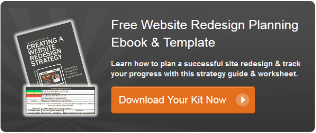website redesign planning kit