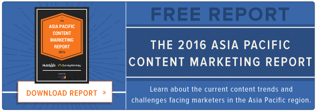 free 2016 APAC content marketing report