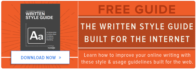 free written style guide for the internet
