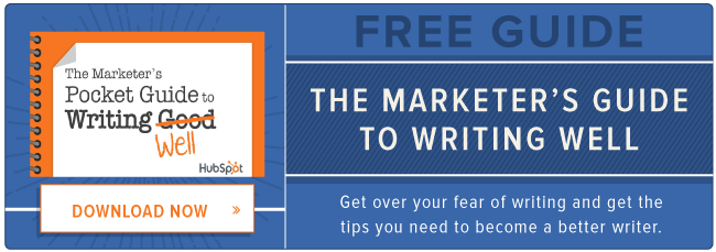 free guide: marketer's guide to writing well