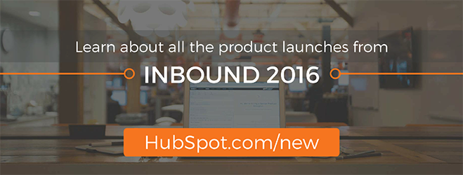 Learn about all the product launches from INBOUND 2016