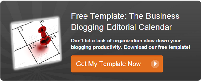 Blogging Editorial Calendar Template