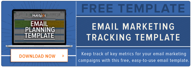 free email marketing tracking template