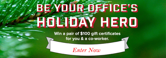 enter to win a pair of $100 gift certificates