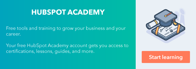 Sign up for your free HubSpot Academy account.