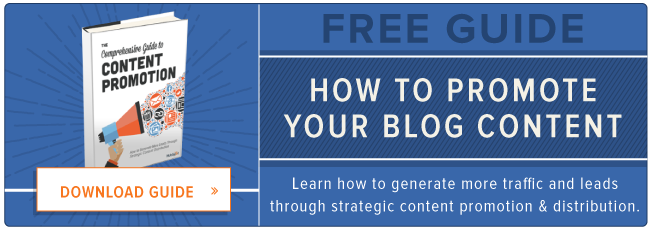 download free guide to blog content promotion