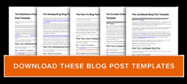 get free blog post templates