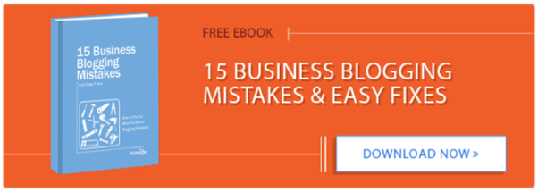 Free Ebook 15 Business Blogging Mistakes