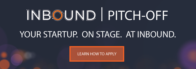 apply for the INBOUND 2016 startup pitch-off