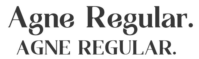 Agne Regular free serif font