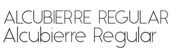 Alcubierre Regular free modern font