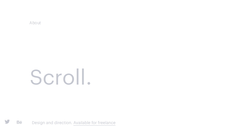 Web sajt - ultra minimalizam
