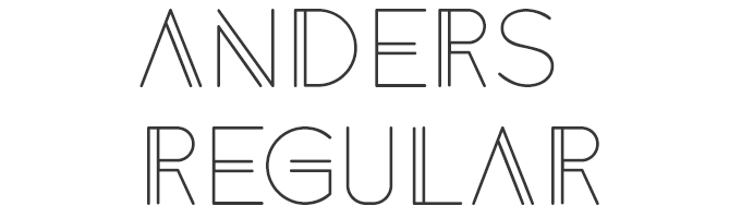 Anders free good font for logo