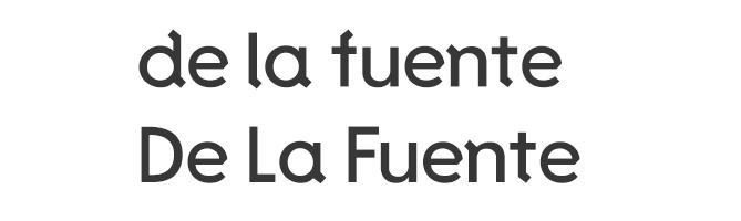 De La Fuente free modern font