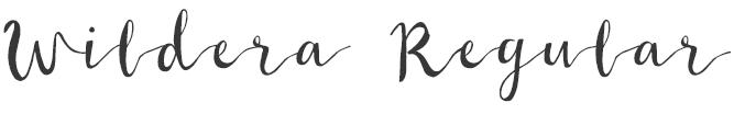Wildera Regular free script font