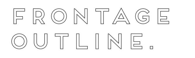 Frontage Outline free modern font