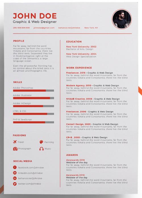 attractive resume format