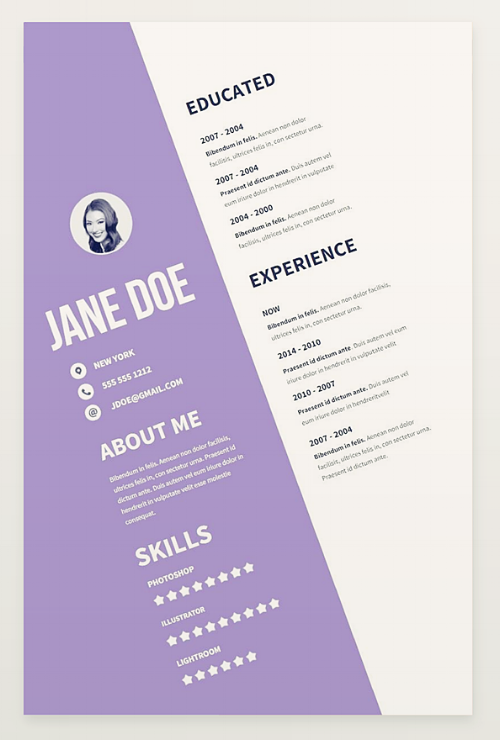 Resume Template With An Unexpected Format