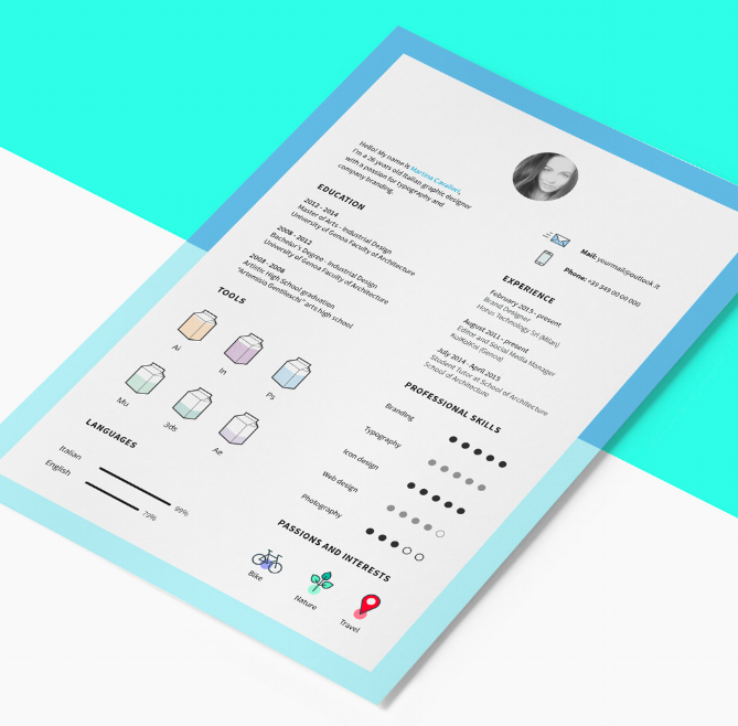 eye catching resume templates free