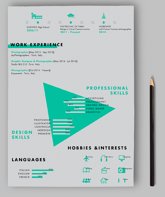 12 resume template with an unexpected format