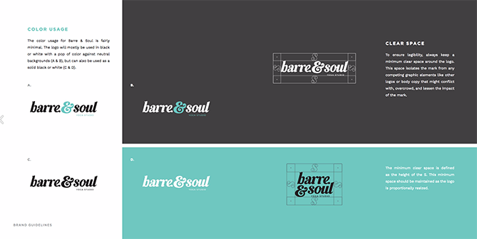22 Brand Style Guide Examples for Visual Inspiration style barre 02