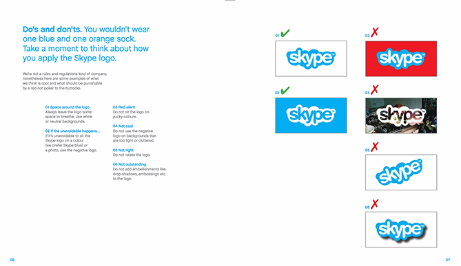 22 Brand Style Guide Examples for Visual Inspiration style skype 01