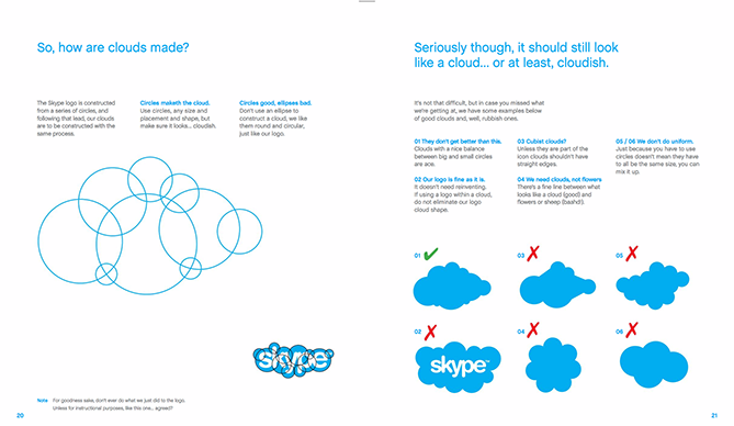 22 Brand Style Guide Examples for Visual Inspiration style skype 02