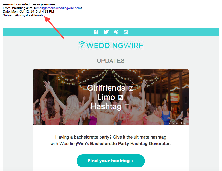 13 Email Examples That Totally Nailed Personalization GinnysLastHurrah