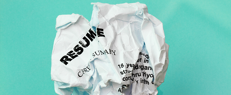 Resume crumpled up
