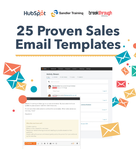 HubSpot sales email template offer
