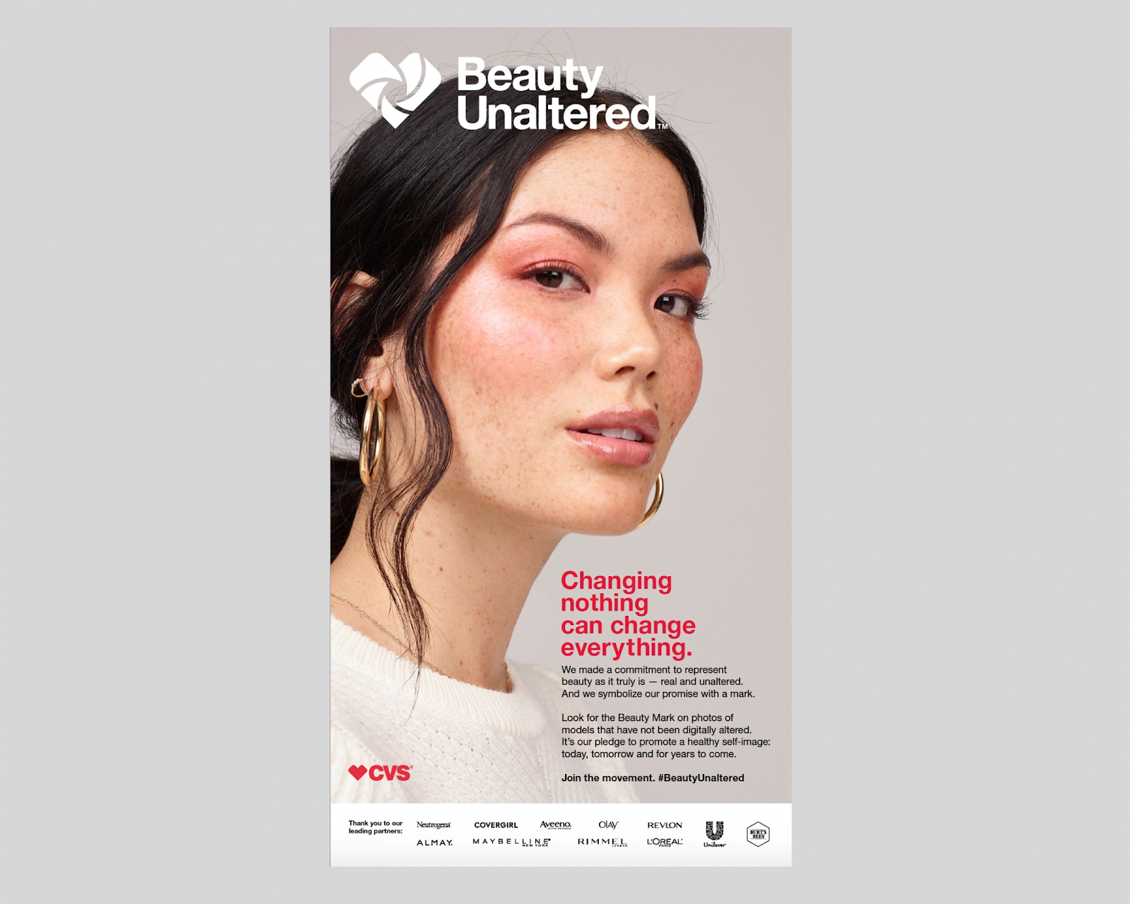 Imagery for CVS' Clio Winning Beauty Unaltered campaign